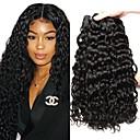 voordelige Weaves van echt haar-3 bundels Peruaans haar Watergolf 8A Echt haar Menselijk haar weeft Bundle Hair Een Pack Solution 8-28 inch(es) Natuurlijke Kleur Menselijk haar weeft Klassiek Beste kwaliteit Voor donkere huidskleur