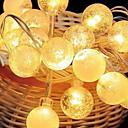 billige LED-stringlys-2.5m Lysslynger 20 LED Varm hvit / Oransje Dekorativ 220-240 V 1set