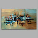 cheap Framed Oil Paintings-Oil Painting Hand Painted - Abstract Modern Rolled Canvas