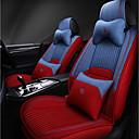 お買い得  3Dプリンターサプライ品-5つの座席と2つの枕と2つのウエストパッド赤と青の四季ユニバーサルカーシートカバー/リネン素材/エアバッグ互換性/調整可能および取り外し可能