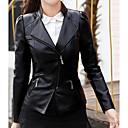 זול מגפי נשים-בגדי ריקוד נשים שחור XL XXL XXXL ז'קטים מעור אחיד