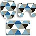 billige Veggklistremerker-3 deler Moderne Badematter 100g / m2 Polyester Strik Stretch Kreativ / Geometrisk Rektangulær Baderom Nytt Design