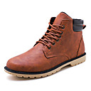 cheap Men's Boots-Men's Comfort Shoes Leather Fall Casual Boots Black / Gray / Brown