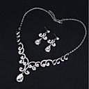 levne Ozdoby do vlasů na večírek-Dámské Šperky Set Moderní, Elegantní Zahrnout Svatební šperky Soupravy Bílá Pro Svatební Párty