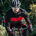 رخيصةأون جواكيت الدراجة-SANTIC رجالي جاكيت الدراجة دراجة هوائية سترة / قمم ضد الهواء, بطانة صوف, الدفء بقع قطن الشتاء أحمر / أخضر متقدم دراجة جبلية استرخاء صالح ملابس ركوب الدراجات تقنيات خياطة متقدمة / قابل للبسط