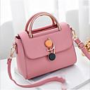 cheap Crossbody Bags-Women's Bags PU(Polyurethane) Shoulder Messenger Bag Zipper Blushing Pink / Purple / Light Grey