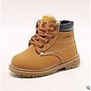 זול נעלי ילדים-בנים נעליים עור סתיו / סתיו חורף נוחות מגפיים ל פעוטות שחור / צהוב / חום / מגפונים\מגף קרסול