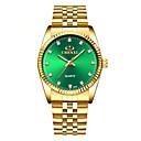hesapli Elbise Saat-Erkek Elbise Saat Quartz Paslanmaz Çelik Altın Rengi Su Resisdansı Gece Parlayan Analog Klasik Moda Minimalist - Beyaz Siyah Yeşil
