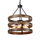 tanie Żyrandole-QINGMING® 5 świateł Mini Żyrandol Oświetlenie od dołu (uplight) Malowane wykończenia Drewno Metal Drewno / Bambus Styl MIni 110-120V / 220-240V