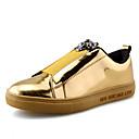 hesapli Erkek Sneakerları-Erkek Ayakkabı Patentli Deri İlkbahar yaz Günlük Spor Ayakkabısı Günlük için Payet Siyah / Gümüş / Mavi