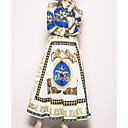 billige Clutch- og aftenvesker-kvinners skjorte kjole maxi skjorte krage