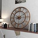 baratos Relógios de Parede Rústicos-Moderno / Contemporâneo / Fashion Plástico e metal Redonda Interior / Exterior,Bateria