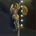 povoljno Egzotična plesna odjeća-Egzotična plesna odjeća Kombinezon s drgim kamenjem / Kombinezoni za izlaske / Klubska nošnja Žene Seksi blagdanski kostimi Spandex Kristali / Rhinestones Dugih rukava Hula-hopke / Onesie