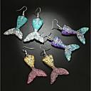 cheap Slipcovers-Women's 3D Drop Earrings Earrings Mermaid Ladies Stylish Classic Jewelry Purple / Yellow / Blue For Daily 1 Pair
