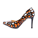 cheap Women's Sandals-Women's PU(Polyurethane) Spring Casual Heels Stiletto Heel Orange
