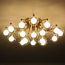 billige Taklamper-ZHISHU Sputnik / geometriske Skyllmonteringslys Omgivelseslys galvanisert Metall Glass LED, Nytt Design 110-120V / 220-240V Varm Hvit / Hvit