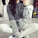 preiswerte Damen Heels-Damen Alltag Einfarbig Langarm Standard Pullover Baumwolle Rosa / Grau / Khaki Einheitsgröße