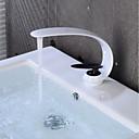 billige Baderomskraner-Baderom Sink Tappekran - Kreativ Malte Finishes / Svart Centersat Enkelt Håndtak Et HullBath Taps