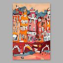 olcso Absztrakt festmények-Hang festett olajfestmény Kézzel festett - Absztrakt Modern Tartalmazza belső keret / Nyújtott vászon
