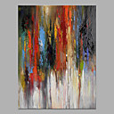 preiswerte Abstrakte Gemälde-Hang-Ölgemälde Handgemalte - Abstrakt Modern Ohne Innenrahmen / Gerollte Leinwand