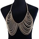 cheap Body Jewelry-Braided Body Chain Ladies, Hyperbole Women's Gold Body Jewelry For Club