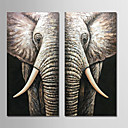 povoljno Slike sa životinjskim motivima-Hang oslikana uljanim bojama Ručno oslikana - Sažetak Moderna Uključi Unutarnji okvir / Prošireni platno