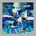 billige Oljemalerier-Hang malte oljemaleri Håndmalte - Abstrakt Moderne Uten Indre Ramme / Valset lerret