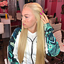 cheap Human Hair Wigs-Synthetic Lace Front Wig Straight Middle Part Synthetic Hair 22-26 inch Heat Resistant / Women / Middle Part Blonde Wig Women's Long Lace Front Blonde