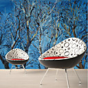 cheap Wall Murals-Wallpaper / Mural Canvas Wall Covering - Adhesive required Trees / Leaves / Pattern / 3D