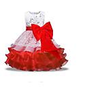 ieftine Rochii Fete-Copii Fete De Bază Zilnic Mată Manșon Lung Poliester Rochie Roșu-aprins