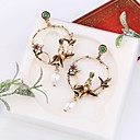 cheap Necklaces-Women's 3D Drop Earrings Imitation Pearl Earrings Bird Ladies Stylish Classic Jewelry Gold For Daily 1 Pair