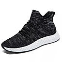 cheap Men's Athletic Shoes-Men's Comfort Shoes Elastic Fabric / Tissage Volant Winter Sporty Athletic Shoes Running Shoes Shock-absorbing Color Block Black / Gray / Red