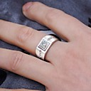 povoljno Prstenje-Muškarci Prsten Kubični Zirconia 1pc Srebro Kamen Umjetno drago kamenje Kubni Stilski Klasik Vjenčanje Angažman Jewelry Klasičan