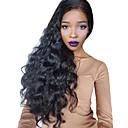 olcso Emberi hajból készült parókák-Remy haj 360 Frontális Paróka Brazil haj Hullámos 360 Frontal Hullámos haj Paróka 150% 180% Haj denzitás baba hajjal Természetes hajszálvonal 100% Szűz A feldolgozatlan Női 31 cm 36 cm 40 cm Emberi