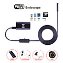 cheap TV Boxes-Wifi Endoscope Mini Camera 8MM Lens 10M Hard Cable Waterproof IP67 Snake Cam Borescope Inspection Endoskop for IOS Android