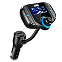 cheap Car DVR-WAZA Wireless Hands-free Bluetooth 4.2 Car Kit FM Transmitter MP3 Player With Dual Quick Charge 3.0/2.4A USB ChargingSupport USB/TF