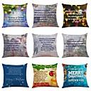 cheap Pillow Covers-9 pcs Linen Pillow Cover, Art Deco / Holiday / Christmas Christmas