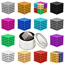 cheap Interlocking Blocks-216 pcs 5mm Magnet Toy Magnetic Balls Magnet Toy Super Strong Rare-Earth Magnets Magnetic Stress and Anxiety Relief Office Desk Toys Relieves ADD, ADHD, Anxiety, Autism Novelty Teenager / Adults' All