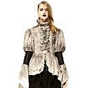 preiswerte Historische & Vintage Kostüme-Vampire Herzogin Retro Gothik Kostüm Damen Bluse / Hemd Party Kostüme Maskerade N / A Grau Vintage Cosplay Spitze Terylen Langarm Ein Hauch