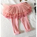 tanie Spodnie dla niemowląt-Dziecko Dla dziewczynek Podstawowy Codzienny Solidne kolory Poliester Spodnie Rumiany róż / Brzdąc