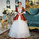 cheap Historical & Vintage Costumes-Princess Victorian Duchess Rococo Baroque Victorian Square Neck Costume Women's Dress Outfits Party Costume Masquerade White Vintage Cosplay Polyster 3/4 Length Sleeve Puff / Balloon Sleeve Floor