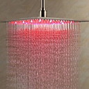 cheap LED Shower Heads-Contemporary Rain Shower Brushed Feature - Cool, Shower Head