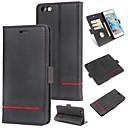 billige iPhone-etuier-Etui Til Apple iPhone 6 Lommebok / Kortholder / Flipp Bakdeksel Ensfarget Hard PU Leather