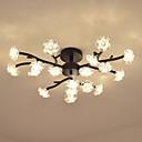 ราคาถูก ไฟเพดาน-OYLYW Flush Mount Ambient Light ทาสีเสร็จสิ้น โลหะ แก้ว 110-120โวลล์ / 220-240โวลต์ วอมไวท์ / ขาว