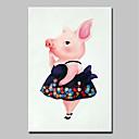 tanie Obrazy: abstrakcja-Hang-Malowane obraz olejny Ręcznie malowane - Abstrakcja / Pop art Nowoczesny Naciągnięte płótka / Rozciągnięte płótno
