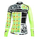 cheap Cycling Pants, Shorts, Tights-ILPALADINO Women's Long Sleeve Cycling Jersey - Mint Green Floral / Botanical Bike Top Ultraviolet Resistant Sports Winter Elastane Mountain Bike MTB Road Bike Cycling Clothing Apparel