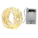 baratos Bouquets de Noiva-ZDM® 3M Cordões de Luzes 30 SMD LEDs SMD5630 Branco Quente / Branco Frio / Vermelho Impermeável / Festa / Decorativa Baterias AA alimentadas 1pç / IP65
