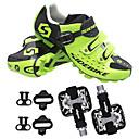 abordables Chaussures de Cyclisme-Unisexe Chaussures de Cyclisme avec Pédale & Fixation / Chaussures de Vélo de Montagne Nylon Anti-Shake, Coussin, Séchage rapide PU de microfibre synthétique Vert / Respirable