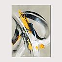 olcso Olajfestmények-Hang festett olajfestmény Kézzel festett - Absztrakt Klasszikus Modern Anélkül, belső keret / Hengerelt vászon