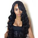 povoljno Perike s ljudskom kosom-Remy kosa Full Lace Lace Front Perika Asimetrična frizura stil Brazilska kosa Tijelo Wave Prirodne kovrče Natural Crna Perika 130% 150% 180% Gustoća kose Nježno Klasični Žene Najbolja kvaliteta